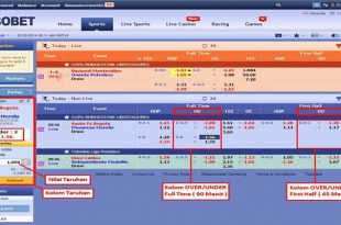 Tips menang over under Di sbobet